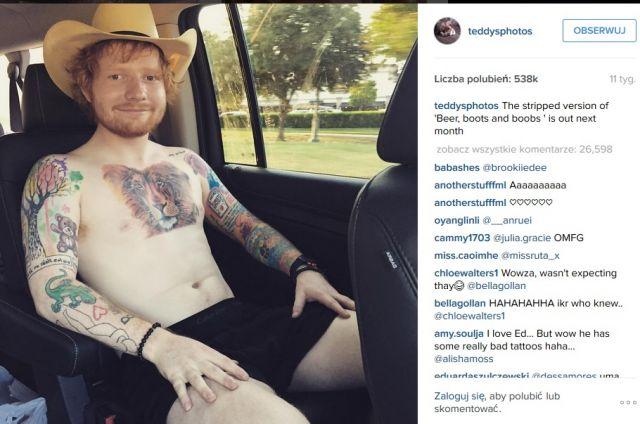 Ed Sheeran Tłumaczy Się Ze Shejtowanego Tatuażu Dlaczego