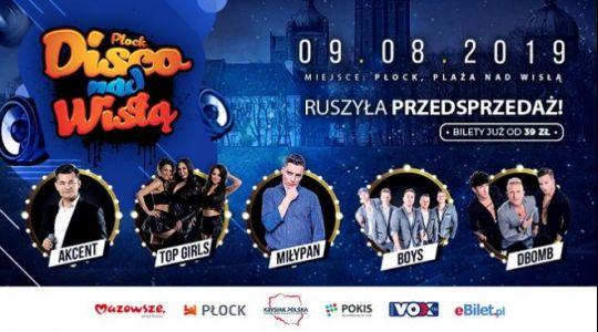 Disco nad Wisłą 2019 – wszystko co chcecie wiedzieć o imprezie w Płocku [KIEDY, ARTYŚCI, BILETY]