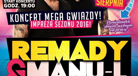 14 sierpnia   Remady&Manu-L   Disco Piknik w Białobrzegach