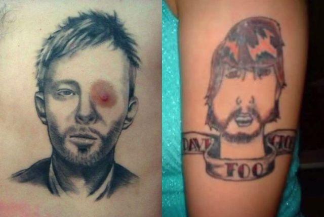 Tatuaż Z Gwiazdą Rocka Najgorsze Wpadki Ta Galeria
